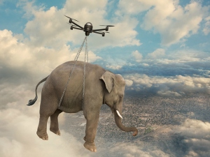 drone-carrying-elephant